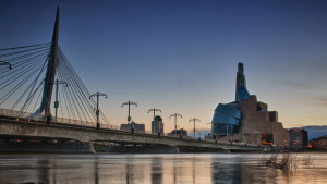 Canadian Museum of Human Rights and the Provencher Bridge