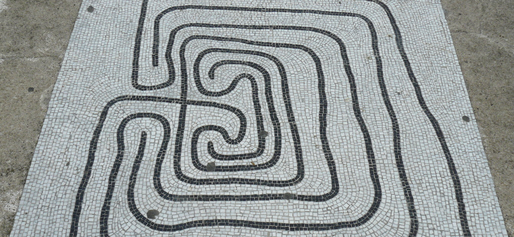 labyrinth mosaic
