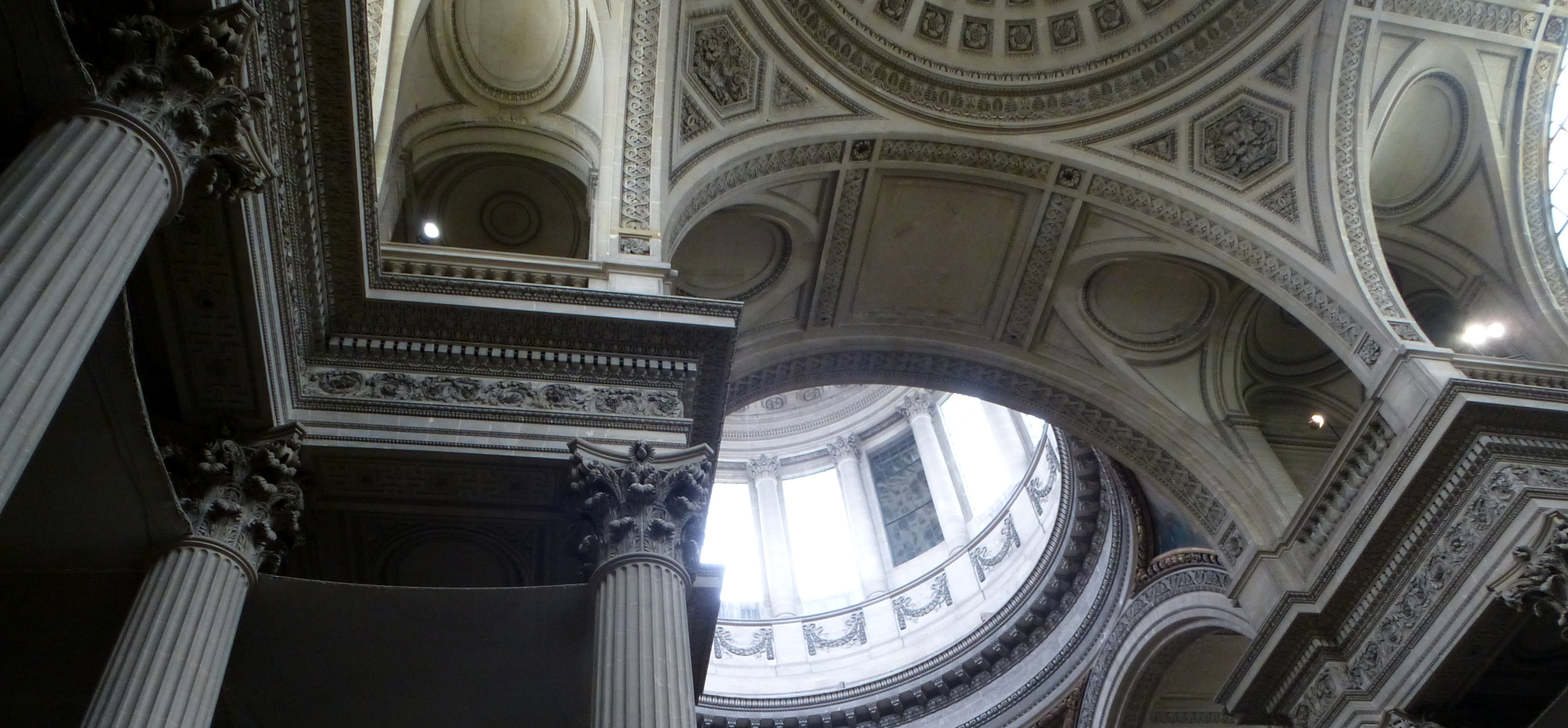 interior of the Pantheon in Paris
