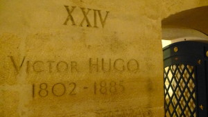 tomb marker of Victor Hugo