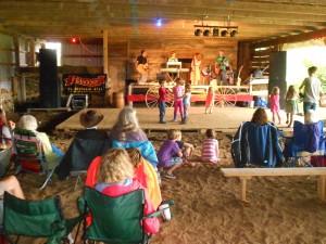 kids dancing at folk festival