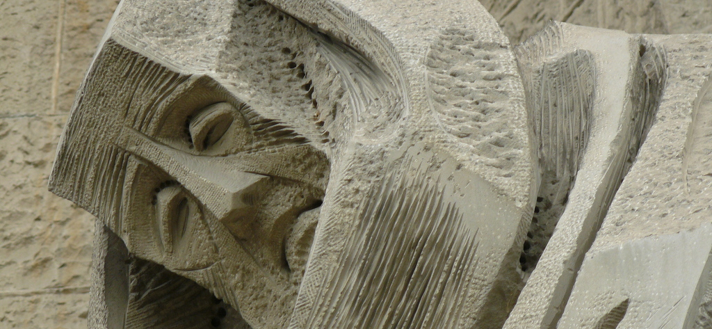 sad face at Sagrada Familia