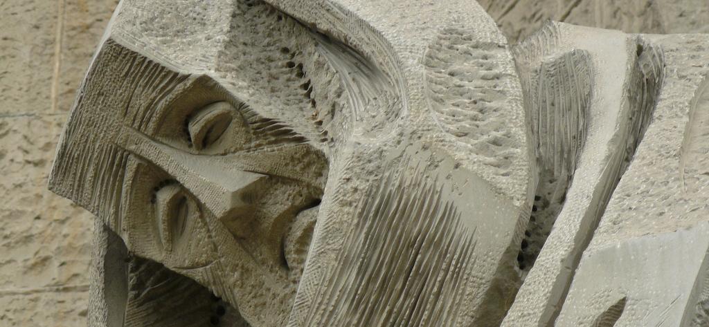 sad face at Sagrada Familia