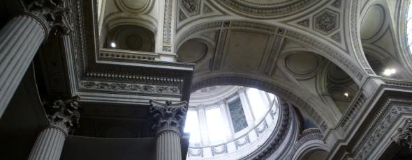 interior of the Pantheon in Paris