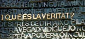 que es la veritat (from doors of Sagrada Familia)